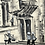 Thumbnail: STREET SCENE VIETNAM - b/w watercolour with traditional houses