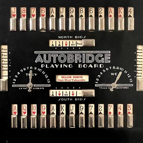 AUTOBRIDGE PLAYING BOARD - vintage american