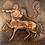 "Thumbnail: SAGITTARIUS - vintage copper wall plaque 24"""