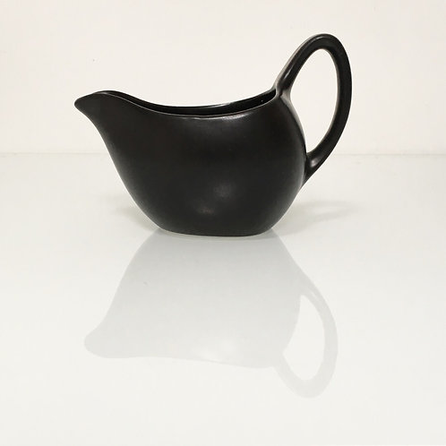 Vintage Midwinter Stylecraft Milk Cream Jug - Fashion Black 1960s Staffordshire