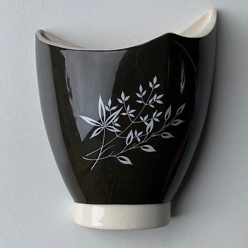 Vintage Carltonware Ceramic Wall Pocket Vase - Hand Painted Floral Design