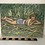 Thumbnail: GIRL IN BIKINI ON SUNLOUNGER - vintage original art painting - on board