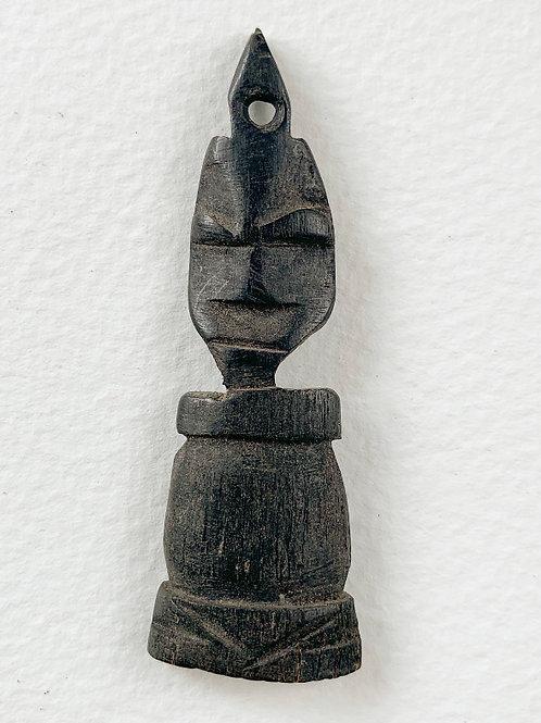 Vintage Hand Carved Folk Art Character Figure Pendant   3