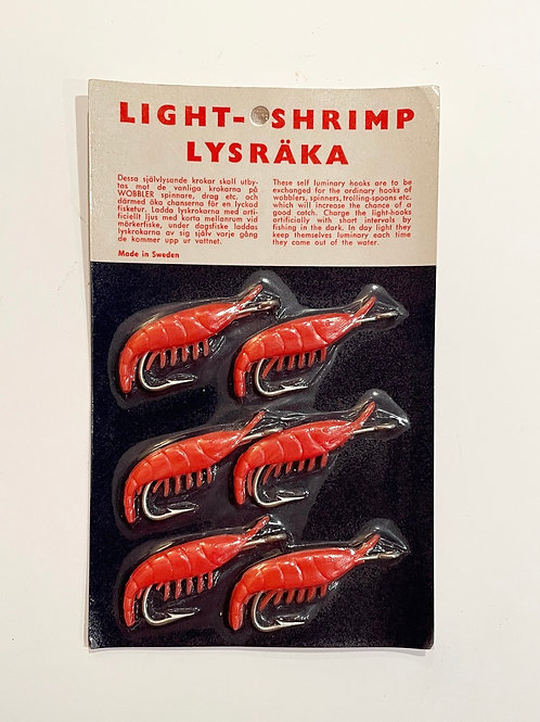 LUMINOUS FISHING HOOKS - made in sweden  - vintage new old stock