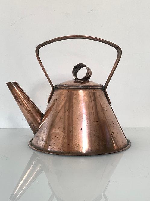 Vintage Copper Kettle - Stylish Angular Design