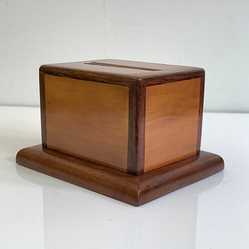 Vintage Modernist Wooden Cigarette Dispenser
