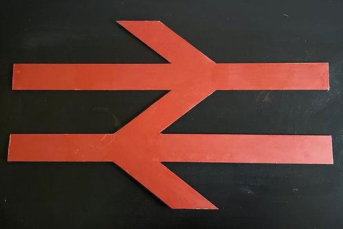 BRITISH RAILWAYS SIGN - vintage metal decorative