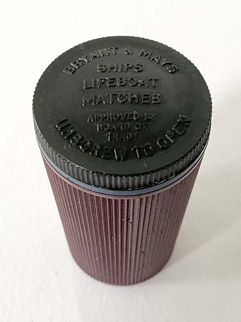 SHIPS LIFEBOAT MATCH BOX - vintage bakelite vesta