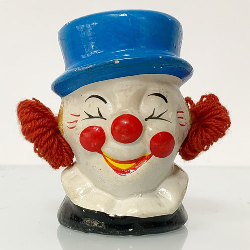 Vintage Clown Face Moneybox Piggybank - Ceramic