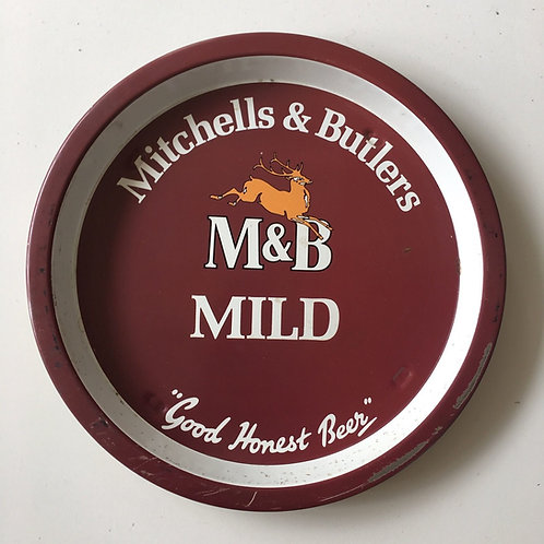 Vintage British Pub Serving Tray Advertising M&B Mild Beer Mitchell Butlers