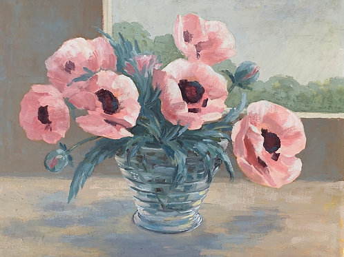 POPPIES painting by W Burlingham