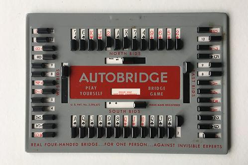 Old Vintage Autobridge Play Yourself Bridge Game Boxed Instructions