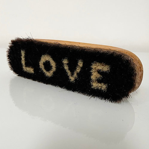 LOVE BRUSH - vintage bristle clothes brush