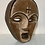 Thumbnail: TRIBAL FACE MASK - old vintage west african carved wood