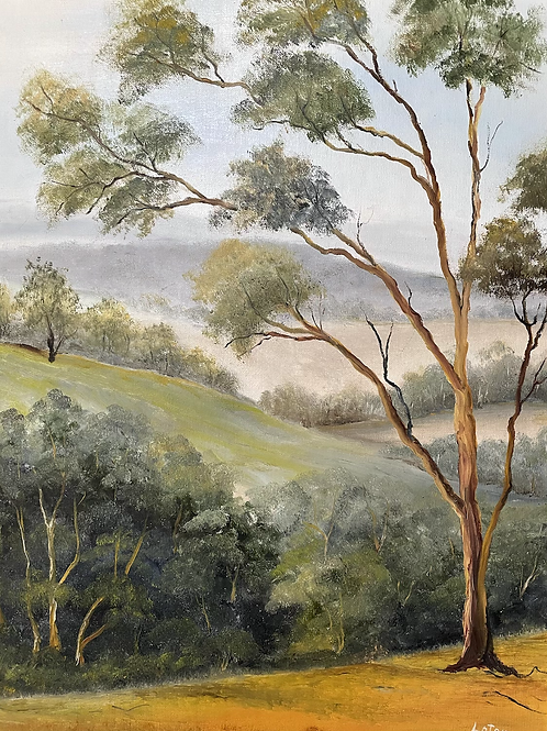 TREES - vintage painting by Lotan