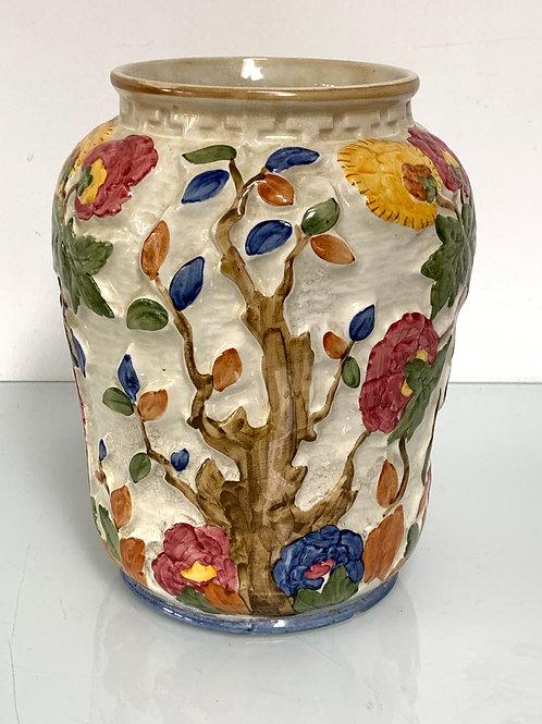 Vintage Indian Tree Decorative Vase - H J Wood - Handpainted British Pottery