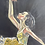 Thumbnail: BALLERINA  - vintage original art painting