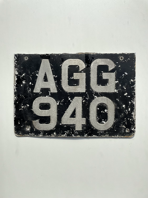 CAR NUMBER PLATE - vintage registration