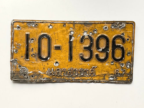 THAI TAXI CAB - vintage number plate