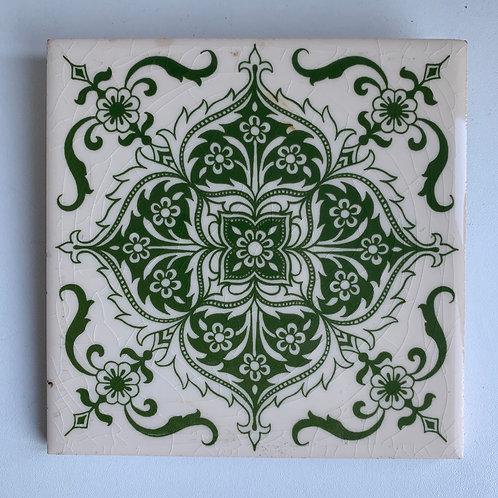 Vintage Decorative Ceramic Tile H & R Johnson Made in England