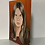 Thumbnail: YOUNG LADY / MOODY TEENAGER  - vintage painting on canvas board