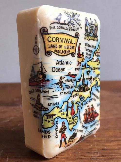 CORNWALL SOAP BAR - vintage cornish souvenir