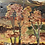 Thumbnail: COUNTRY COTTAGE WITH MOUNTAINS - impasto oil painting