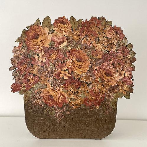 FIRESCREEN - vintage floral design