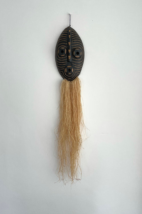 FACE MASK WITH LONG BEARD - vintage tribal decot