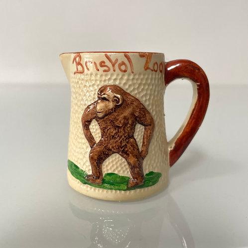 CHIMPANZEE  jug - vintage bristol zoo souvenir