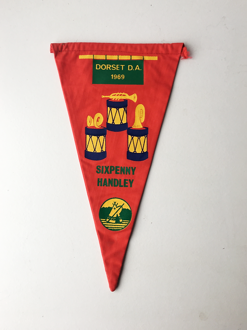 Vintage 1960s Camping Club Great Britain Pennant Flag SIXPENNY HANDLEY Dorset DA