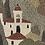 Thumbnail: SAND PAINTING - vintage hillside scene