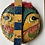 Thumbnail: VIETNAMESE THEATRE CHEO FACE - hand painted on vintage basket