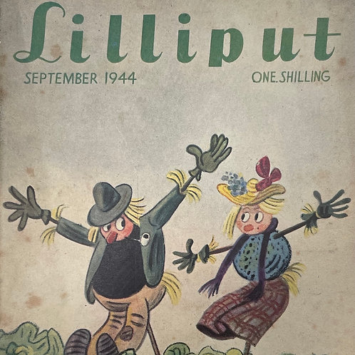 LILLIPUT Magazine - 1944 wartime edition - scarecrows