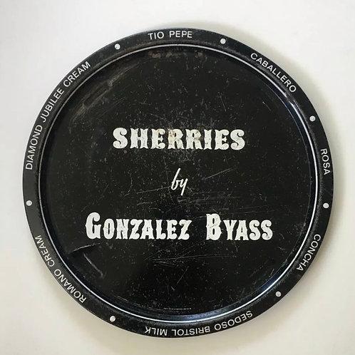 Vintage Pub Tray Advertising Gonazalo Byass Sherry