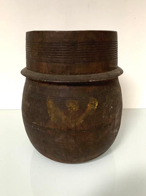 TIBETAN CURD POT - antique tsampa or milk curd pot