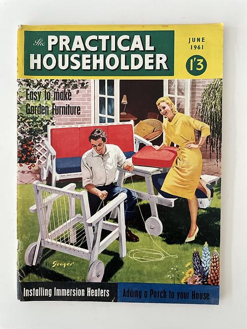 PRACTICAL HOUSEHOLDER - vintage 1950s magazine
