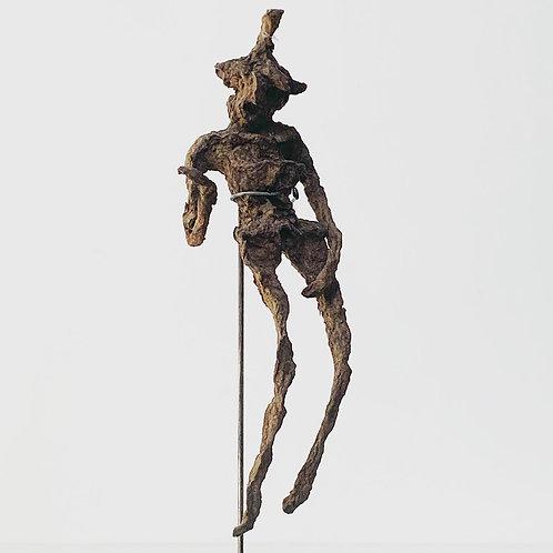 FOSSILISED ROOT EFFIGY FIGURE - shamanic folk art