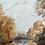 Thumbnail: RIVER LANDSCAPE - original vintage oil painting