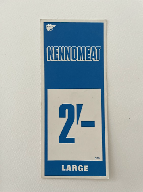 KENNOMEAT - vintage food shop price card