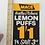 Thumbnail: LEMON PUFFS - vintage shop price card