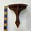 Thumbnail: CORNER SHELF - vintage wooden display unit