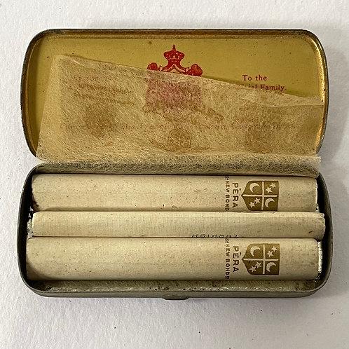 PERA CIGARETTES  - vintage british smokers advertising tin