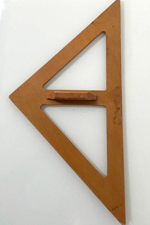 WOODEN SET SQUARE - vintage wooden tool