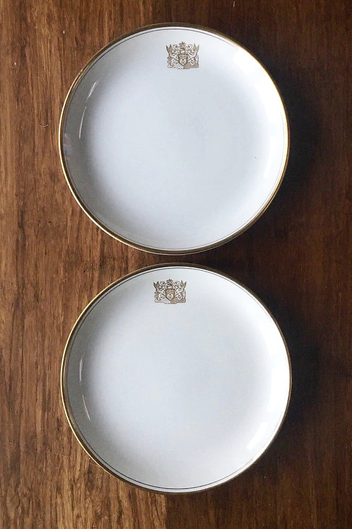 A Pair of Vintage 1970s BOAC 1st Class Side Plates - British Overseas Airways