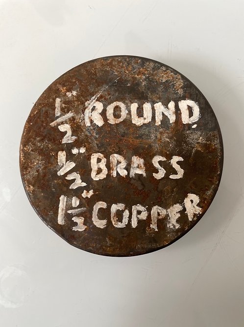 SCREWS - rusty old vintage screw tin with hand written label