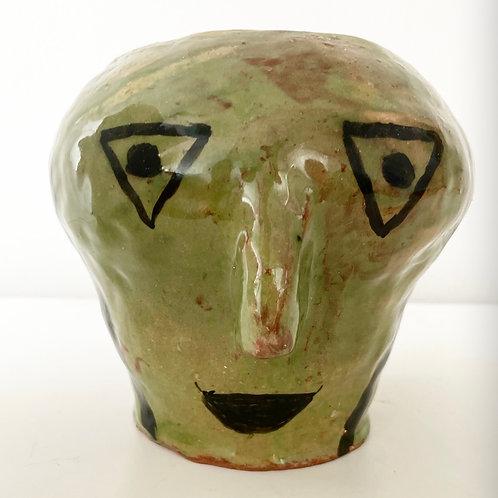 FACE VASE - vintage studio pottery