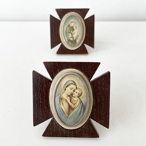 BABY JESUS - vintage framed religious portraits