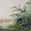 Thumbnail: LANDSCAPE TREES & RIVER - vintage oil painting