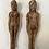 Thumbnail: POPPET EFFIGY FIGURES - hand carved antique folk art